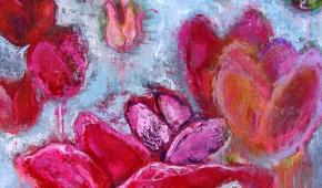 Bloemenpracht 100x120 cm- verkocht