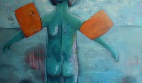 Waterpret 1 100x120 cm- verkocht