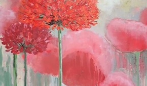 Flower power 100x100 cm - verkocht